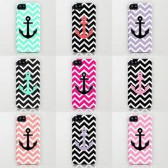 Cute & Colorful: Phone Cases Love the first one!! Adorable #anchor #cases #phonecases #phonecase #case #smartphonecase #products