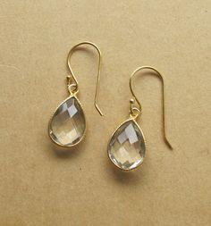 Green Amethyst Earrings Amethyst Gemstone Earrings by Belesas, $38.99