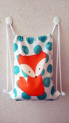 Turnbeutel - Rucksack für Kinder Fuchs - ein Designerstück von Tshirt-Paul bei DaWanda