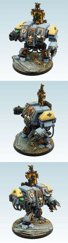 Space Wolves Dreadnought, Golden Demon UK 2012 40k vehicle category bronze winner, by Martin Peterson.