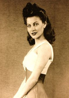 A very rare picture of Ava Gardner at an early age.