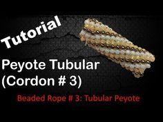 Tubular Peyote / Beaded Rope # 3 Tutorial / How to / EASY - English Subtitles Peyote Beading, Loom Bracelet Patterns, Beaded Necklace Patterns, Seed Bead Jewelry, Bead Jewellery, Jewelry Making Tutorials, Beading Tutorials, Tutorials, Necklaces
