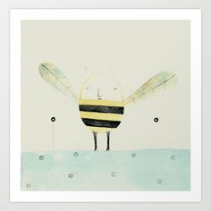 Bee Art Print by Valentina  - $12.48