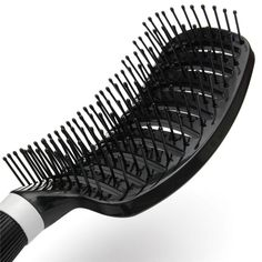 High Quality Portable Barber Anti-static Soft Curved Vent Salon Hairdressing Tool Rows Tine Comb Hair Brush Plastic 26.5 x 7.5cm