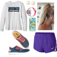 Can I just wear this 24/7?! by bamaprepgal on Polyvore featuring NIKE, C9 by Champion, Nina, Lilly Pulitzer and Patagonia