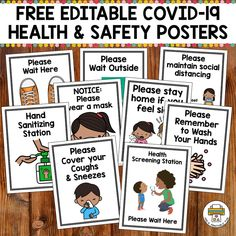 This free set of editable Health and Safety posters will make it easier for you to communicate health and safety procedures with your clients. Preschool Classroom, Future Classroom, Preschool Activities, Creative Curriculum Preschool, Classroom Ideas, Kindergarten Songs, High School Activities, Social Skills Activities, Health And Safety Poster