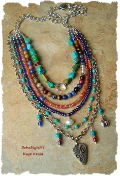 Festival Of Nature Multiple Strand Rustic Gemstone by BohoStyleMe
