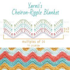 yarnii's chevron-ripple blanket