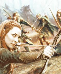 Tauriel. In the battle of the fives armies