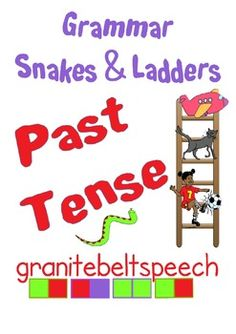 Learn to use Past Tense forms while playing this classic board game.This download includes:a Snakes & Ladders game for irregular past tensea Snakes & Ladders game for regular past tensea Snakes & Ladders game for mixed regular and irregular past tenseImages are from:My Cute Graphics www.mycutegraphics.comThe Open Clipart Library www.openclipart.org clker.comkozzi.comJen MorganGranite Belt Speech