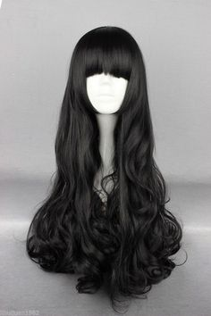 Free Shipping 70cm Long Straight RWBY Blake Belladonna Black Cosplay Wig