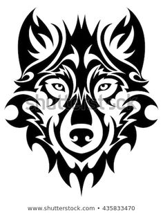 Find Beautiful Wolf Tattoo Vector Wolfs Head stock images in HD and millions of other royalty-free stock photos, illustrations and vectors in the Shutterstock collection. Tribal Tattoos, Tribal Wolf Tattoo, Wolf Tattoo Design, Wolf Tattoos, Body Art Tattoos, Small Tattoos, Tattoos Skull, Wolf Head Drawing, Lobo Tribal