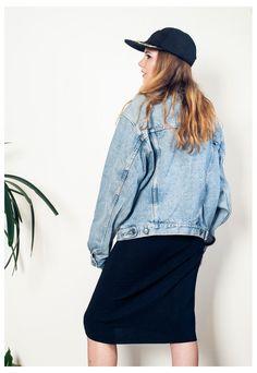 90s denim jacket stonewashed blue oversized grunge jacket   Pop Sick   ASOS Marketplace