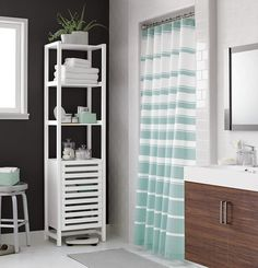 Crate And Barrel Newport Shower Curtain