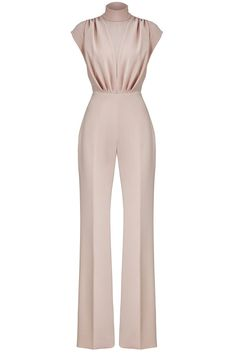 Christian Siriano Pink Women's Size 12 High Neck Satin Jumpsuit for sale online Elegant Outfit, Classy Dress, Classy Outfits, Chic Outfits, Fashion Outfits, Womens Fashion, Satin Jumpsuit, Jumpsuit Outfit, Wrap Jumpsuit