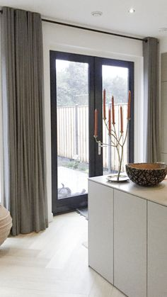 Curtain Inspiration, Home Decoracion, Modern Home Interior Design, House On The Rock, House Windows, Curtains With Blinds, Home And Family, Interior Decorating, New Homes
