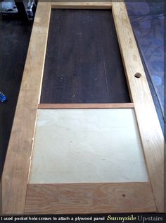 Learn to build a frosted glass pane door from scratch, including installing hinges and knob hardware. Sliding Glass Door, Building A Door, Glass Pane Door, Glass Pocket Doors, Glass Wall Art, Doors Interior, Stained Glass Door, Wood Entry Doors, Glass