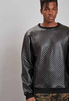 Reason Quilted Faux Leather Top | 21 MEN - 2000158305