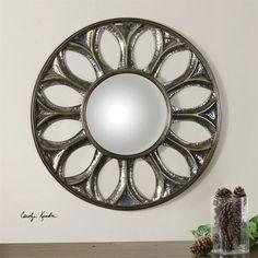 Uttermost Yenisey Round Bronze Mirror