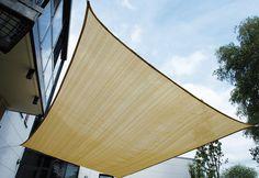 Sonnensegel, High Paek, »FIJI TARP«. Ganz gleich, wo Schatten fallen soll. Ob Balkon, Terrasse, Sandkasten. Dieses viereckige Sonnensegel kann individuell angebracht werden und ist ein optimaler Schattenspender. Details:Sonnensegel aus HDPE, Atmungsaktiv, UV-stabil, Edelstahl D-Ringe an allen Ecken, Material: 100 % Polyethylen, HDPE, 185g/sqm, Abmessungen: 400 x 300 cm, Gewicht: ca. 2,33 kg, Fa...