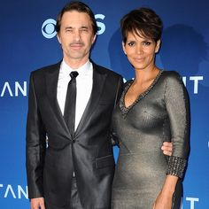 """Halle Berry is getting divorced from her husband of two years, Olivier Martinez. On Tuesday, the couple shared a statement with People magazine:""""It is Date Outfit Summer, Date Outfits, Celebrity Couples, Celebrity News, Halle Berry Olivier Martinez, Jenny Packham Dresses, Metallic Dress, Dating Again, People Magazine"""