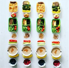 Allow this meal prep maven to help you rethink your nutrition game. On tap for this week: PB and berry overnight oats for breakfast, salmon and veggies for lunch, then meatloaf, rice and broccoli for dinner (and don't forget the fresh fruits and veggies f Healthy Foods To Eat, Healthy Snacks, Healthy Eating, Healthy Recipes, Diet Recipes, Best Meal Prep, Meal Prep Plans, Food Prep, Fitness Workouts