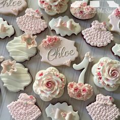 Gorgeous Decorated Flower Cookies