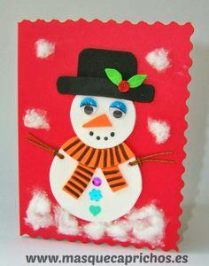 especial navidad tarjeta navidad mueco de nieve