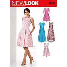 Buy New Look Women's Dresses Sewing Pattern, 6341 Online at johnlewis.com