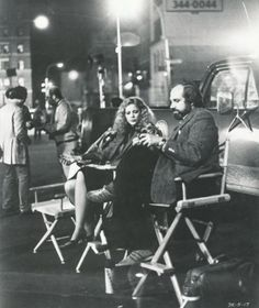 "On the set of ""Dressed to Kill"" (1980) Director: Brian De Palma."