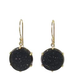 Jamie Joseph Small Round Brazilian Black Druzy Earrings .. ylang23.com