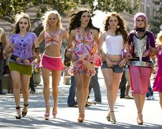 Kat Dennings, Anna Faris, Katherine Mcphee, Emma Stone, and Rumer Willis in The House Bunny.