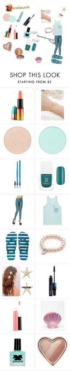 """""""Me as the son of Ariel and Eric"""" by evy-emanuel ❤ liked on Polyvore featuring MAC Cosmetics, Disney, Formula X, Old Navy, Skinnydip, Too Faced Cosmetics, CARGO, women's clothing, women and female"""