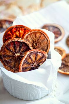 LIGHTLY SWEETENED SPICED OVEN DRIED ORANGE SLICES
