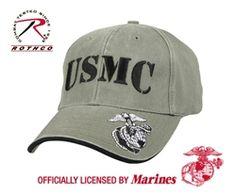 d6892402b44  VINTAGE  OLIVE DRAB  USMC HAT Marine Corps