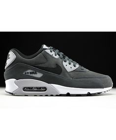Nike Air Max 90 Leather Anthracite Black Wolf Grey White Cheap