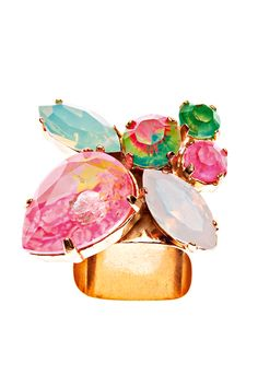 color explosion - this summer jewelry is huge! ring by Berlin-based fashion-gone-jewelry-designer Sabrina Dehoff.
