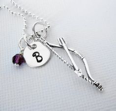 Bow and Arrow Necklace  Sterling Silver  by PatriciaAnnJewelry, $33.50