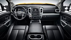 2016 Nissan Titan PRO-4X®, truck,  interior, leather, Nissan, Nissan USA, Pickup