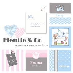 Geboorte, trouwkaarten en uitnodigingen bij www.fientje-en-co.nl