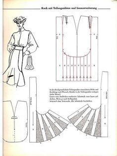 Skirt Patterns Sewing, Clothing Patterns, Pattern Cutting, Pattern Making, Modelista, Couture Sewing, Pattern Drafting, Mode Vintage, Fashion Sewing