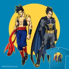 The World's Finest Fusions #Goku #Superman #Vegeta #Batman #DragonBall #DragonBallZ