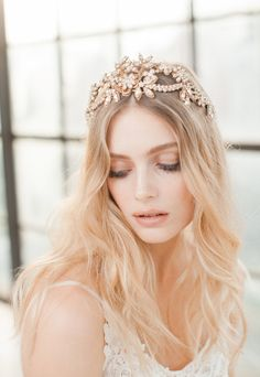 Beautiful intricate bridal headpieces from the Wild Nature Collection by Jannie Baltzer