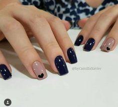 Ideas For Nails Blue Nailart Manicures Nagel Hacks, Nails Polish, Super Nails, Perfect Nails, Short Nails, Trendy Nails, Nails Inspiration, Color Inspiration, How To Do Nails