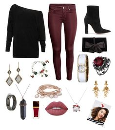 Christmas Hair, don't care. by houslanderl on Polyvore featuring polyvore, Gianvito Rossi, Ann Taylor, Dana Kellin, Caravelle by Bulova, Marjana von Berlepsch, Oscar de la Renta, ASOS, Lime Crime, Tom Ford, fashion, style and clothing