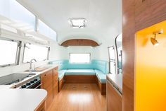 This remodeled Airstream is incredibly cool & totally not camping/kid-friendly, but gorgeous.