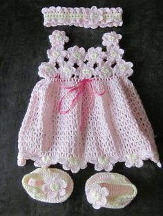 Handmade Baby Crochet Dress Head Band and by MagicalStrings, $62.00