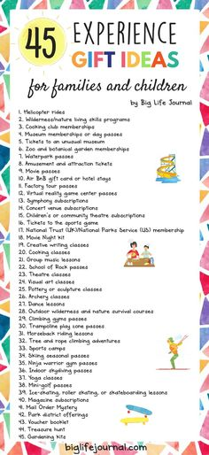 How to Give Experiences Instead of Gifts   Health and Wellness ...