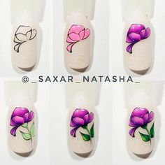 Nails Archives - Style and Designs Cute Nail Art, Easy Nail Art, Cute Nails, 3d Nails, Manicure And Pedicure, Animal Nail Art, Flower Nail Art, Nail Tutorials, Simple Nails