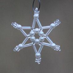 Vánoční+ozdoba+z+korálků+2D+Vánoční+ozdoba+inspirovaná+dětstvím+minulého+století.+průměr+cca+4+cm+2D